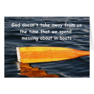 Het roeien het Spreuk van de Boot, klantgerichte Kaart