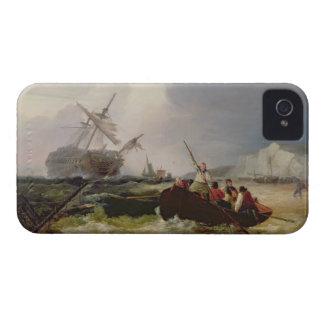 Het roeien van Boot die naar de Hulp van een iPhone 4 Hoesje
