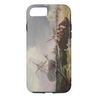 Het roeien van Boot die naar de Hulp van een iPhone 7 Hoesje