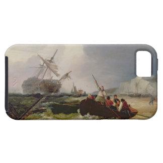 Het roeien van Boot die naar de Hulp van een Tough iPhone 5 Hoesje