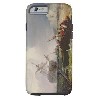 Het roeien van Boot die naar de Hulp van een Tough iPhone 6 Hoesje