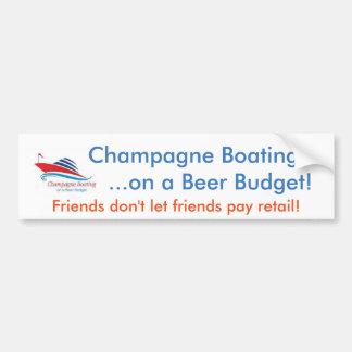 Het Roeien van Champagne op een Sticker van de Bumpersticker