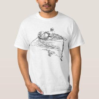 Het roeien van het man boot t shirt