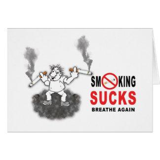 HET ROKEN ZUIGT EINDE WENSKAART