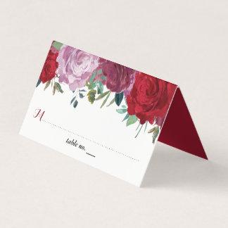 Het romantische BloemenCollectie van het Huwelijk Plaatskaart