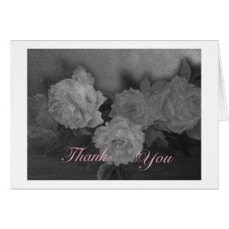 het romantische bloemenhuwelijk dankt u wenskaart