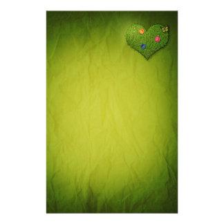Het romantische Hart van het Gras - het Briefhoofd Briefpapier