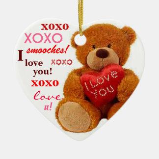 Het Romantische Hart van Valentijn van de Keramisch Hart Ornament