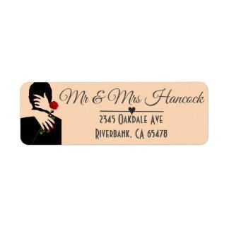 Het romantische Huwelijk van het Art deco van het Etiket