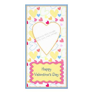 Het romantische ontwerp van Valentijn Fotokaarten