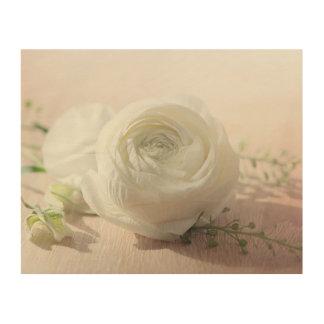 Het romantische Wit nam toe Hout Prints