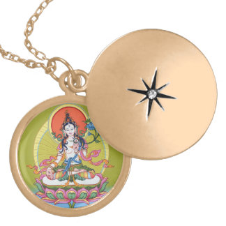 Het ronde Ketting van het Medaillon - Witte Tara -