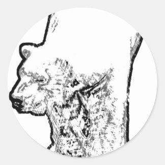 Het Rondsnuffelen van de Ijsbeer Ronde Sticker
