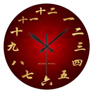 Het rood & het Goud personaliseerden de Chinese Grote Klok