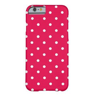 Het Rood & het Wit van de stip Barely There iPhone 6 Hoesje