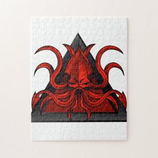 het rood kraken illustratie foto puzzels
