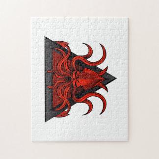 het rood kraken illustratie puzzels