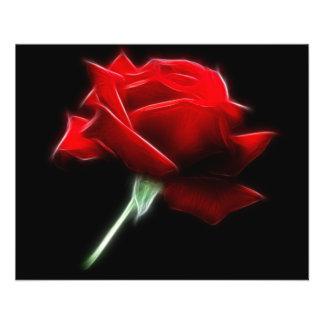 Het rood nam het Plant van de Bloem toe Flyer 11,4 X 14,2 Cm