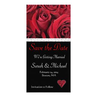 Het rood nam Huwelijk sparen de Kaart van de Datum