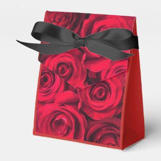 Het rood nam Romance toe Bedankdoosjes