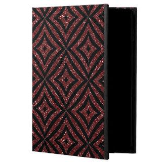 Het rood schittert het Zwarte Hoesje van Girly van iPad Air Hoesje
