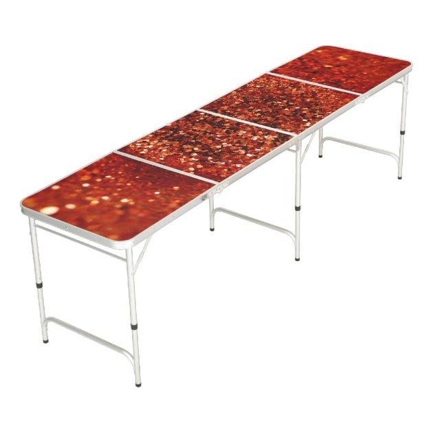 Het rood schittert lijst pong beer pong tafel zazzle