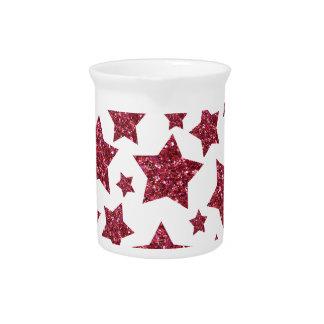 het rood schittert sterren pitchers