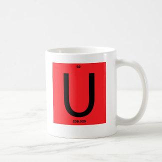 Het rood van de brief U Koffiemok