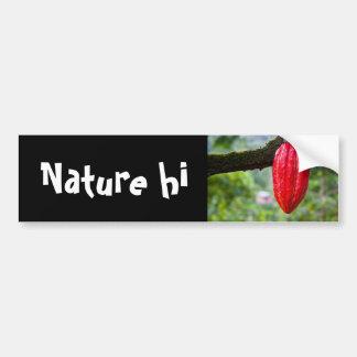 het rood van de cacaopeul bumpersticker
