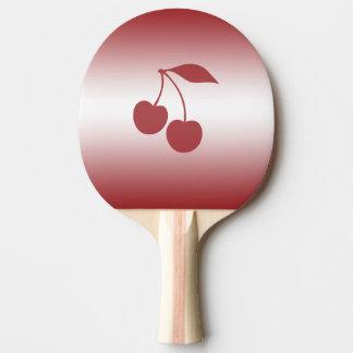 Het rood van de kers aan witte gradiënt tafeltennis bat