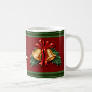 Het Rood van de Klokken van Kerstmis en van de Koffiemok