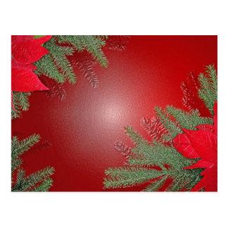 Het Rood van de Poinsettia van Kerstmis Wens Kaarten
