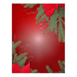 Het Rood van de Poinsettia van Kerstmis Wenskaart
