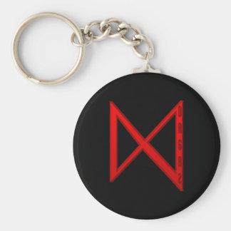 Het rood van de Rune van Dagaz Basic Ronde Button Sleutelhanger