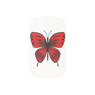 Het rood van de vlinder minx nail folie