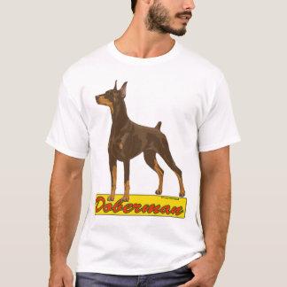 Het rood van Doberman- T Shirt