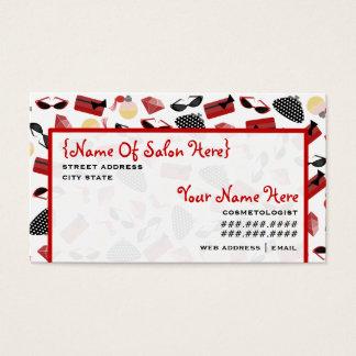 Het Rood van Girly van de Benoeming van de Salon Visitekaartjes