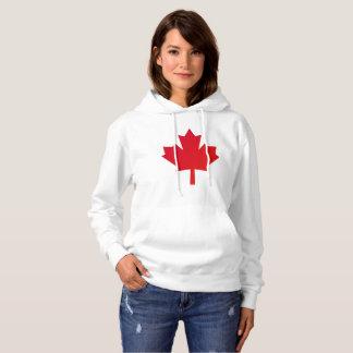 Het Rood van het Blad van de Esdoorn van Canada Hoodie