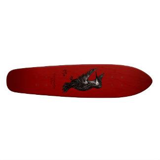 Het Rood van het Logo van de kolibrie Skateboard