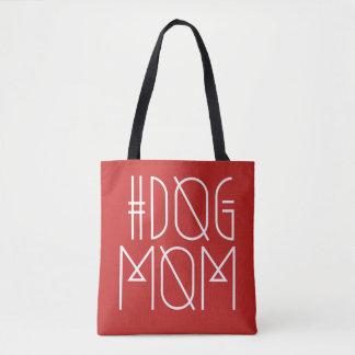 Het Rood van het Mamma van de Hond van Hashtag & Draagtas