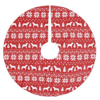 Het Rood van het Patroon van Kerstmis van de Kerstboom Rok