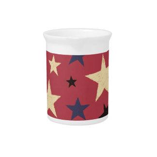Het Rood van het Patroon van sterren Pitchers