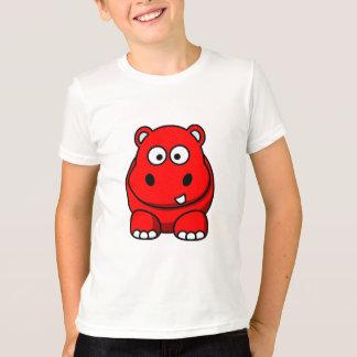 Het Rood van Hippo T Shirt