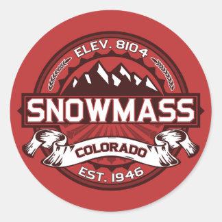 Het Rood van Snowmass Ronde Sticker