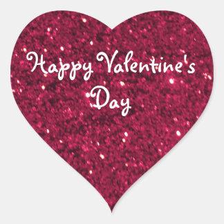 Het Rood van Valentijn schittert Hart Sticker