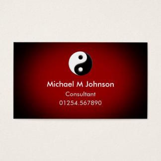 Het Rood van Yang van Yin Visitekaartjes