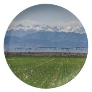 Het rotsachtige Uitzicht van de Landbouw van de Melamine+bord