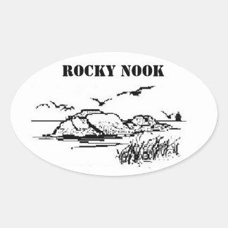 Het rotsachtige Zout van het Hoekje schommelt Ovale Sticker
