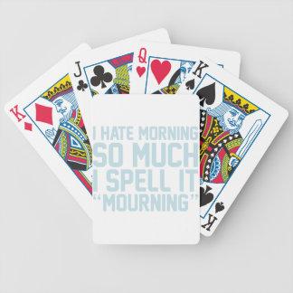 Het rouwen pak kaarten