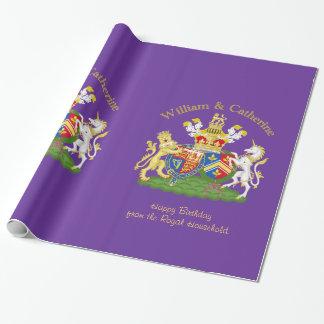 Het Royal Wapenschild van William en van Catherine Inpakpapier